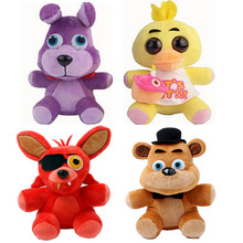 2016 Five Nights at Freddy 25cm Size Bear & Fox& Duck & Rabbit Kids Movie  Plush Toys(China (Mainland))