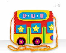 الحرف اليدوية إيفا ديي أكياس لطيف الكرتون حقائب الخياطة الحيوان لغز ألعاب للأطفال الأطفال الإبداعية التعلم والتعليم(China)