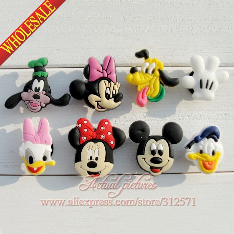 New Arrival, 16pcs/lot  fashion Mickey  PVC shoe charms fit for wristbands,  best gift for kids,cute cartoon,Kids favor gift<br><br>Aliexpress