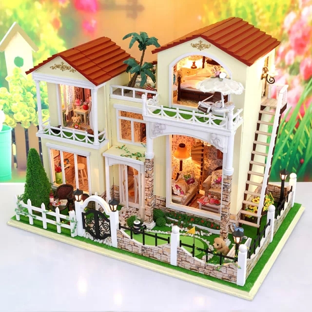 The Raphael Villa Large Scale Diy Doll House 3d Miniature