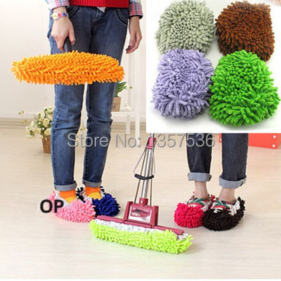 Free Shipping 10pcs x Multifunction Mop House Bathroom Floor Lazy Dust Cleaner Slipper Shoes Cover s6c0(China (Mainland))