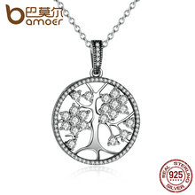 Buy BAMOER Classic 925 Sterling Silver Tree Life Pendant Necklaces Women Women Fine Jewelry collares PSN013 for $12.12 in AliExpress store