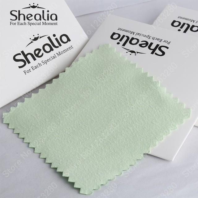 Shealia ювелирные изделия 10 шт./упак. серебряные иконы ткань для 925 серебряный золотой жемчужные украшения лучшее качество 8 см * 8 см бесплатная доставка