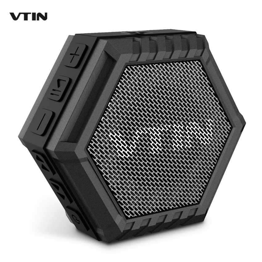VTIN 5W Portable Waterproof Bluetooth Speaker Outdoor Driver Speaker with Bass Subwoofer Stereo Sound Bar Loudspeakers Column(China (Mainland))