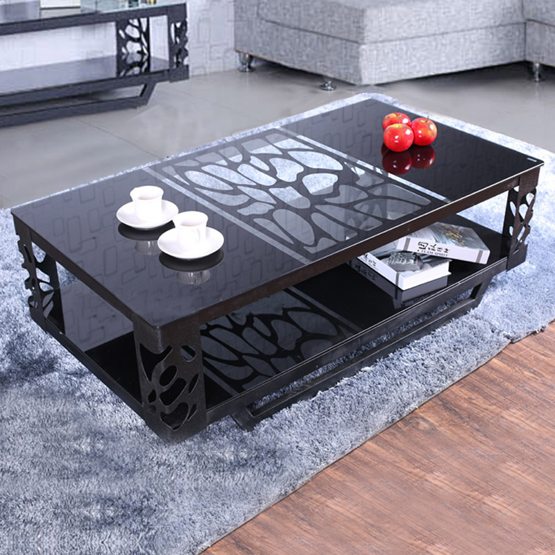 Table basse de salon verre et fer forge - Table basse salon verre ...