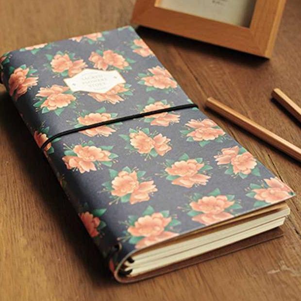 "Гаджет  ""Sacred Flower"" Hard Cover Bound Girl Diary Blank Kraft Paper Planner Journal Travel School Notebook Agenda Scheduler Kids Gift None Офисные и Школьные принадлежности"