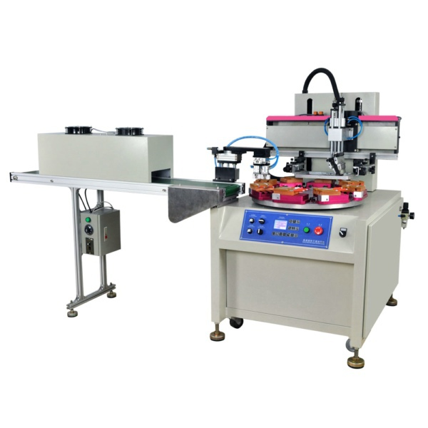 Flat Screen Printing Machine With Rotary Table Auto Baiting Drying System(China (Mainland))