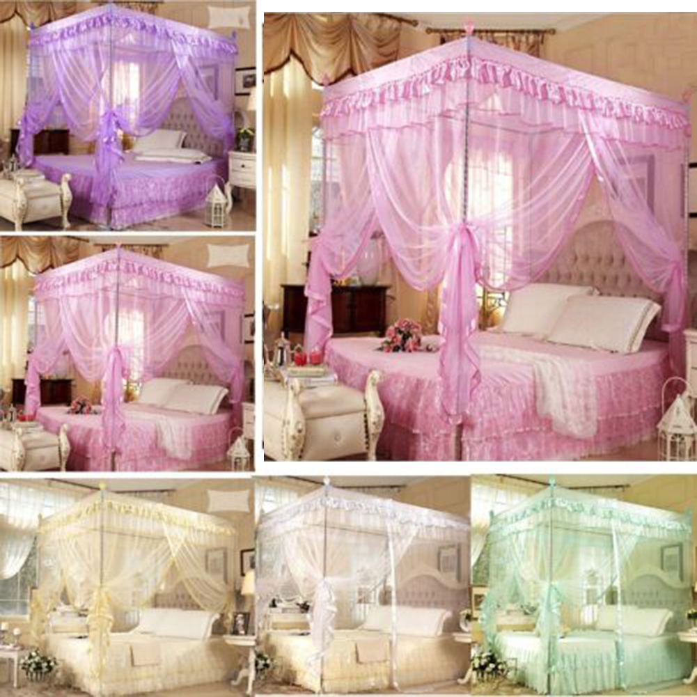 2 color for choose beautiful bed net mesh room decoration for Bed decoration with net