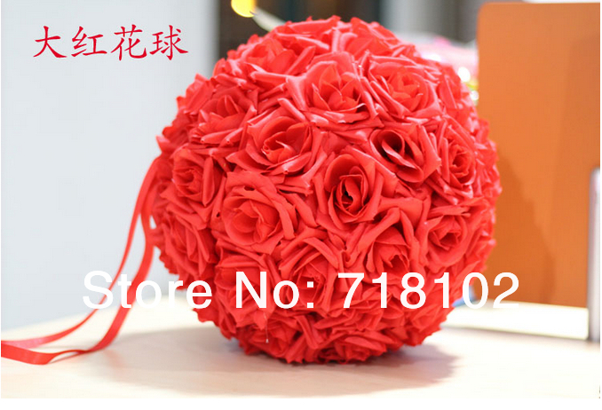 free shipping 4pcs/lot Size 20cm Simulation Rose Flower Ball/ Wedding Bouquet Decoration/High-grade Silk Cloth Muti-color Option