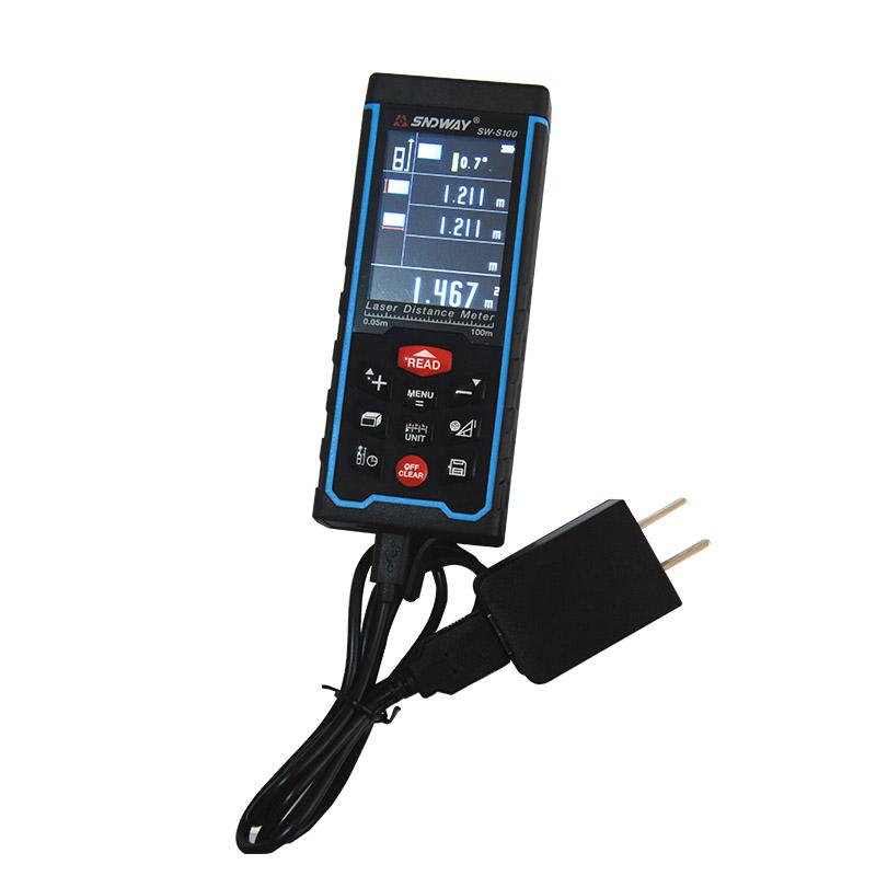 Digital Laser rangefinder Color display Laser Range Finder distance meter tape measure Area/Volume S100 with High-precision(China (Mainland))
