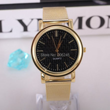 2015 Women Wristwatches with Gold Band Fashion Women Dress Watch Brand New Stainless Steel Watches Women