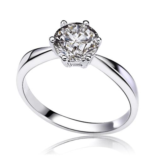 0.4ct Zirconium stone finger ring women's decoration jewelry engagement rings each in gift box ALW1921(China (Mainland))