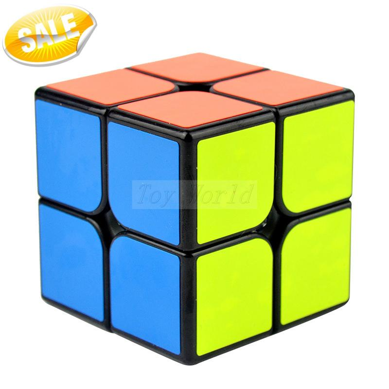 YJ GuanPo 2x2x2 50mm Speed Cube Puzzle Magic Cube 2x2 Black/White cubo magico Cubiks Juguetes Educativo Toys For Kids(China (Mainland))