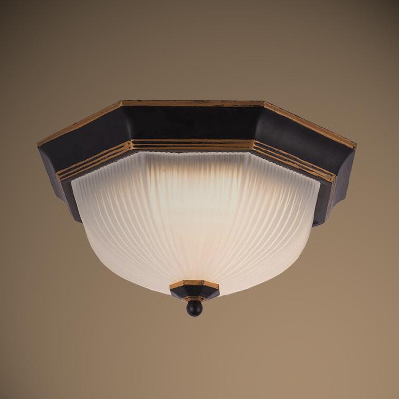 Фотография Retro Led Ceiling Light Flush Mount Surface Mounted Glass Metal Painting for Living Room Foryer Hallway lighting