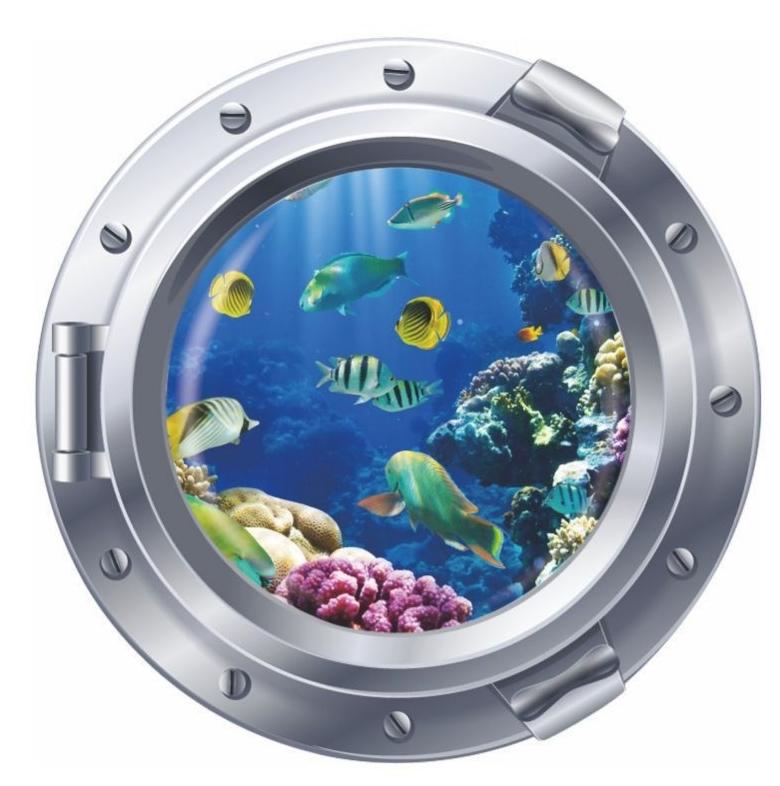 Fish undersea vinyl wallpaper home livingroom bathroom shower decor