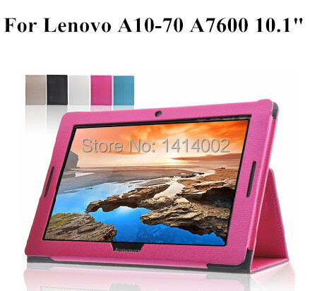 New Quality Folding Folio Leather Case Stand Cover Lenovo A10-70 A7600-F/H 10.1 inch Tablet + track number - Nogis store