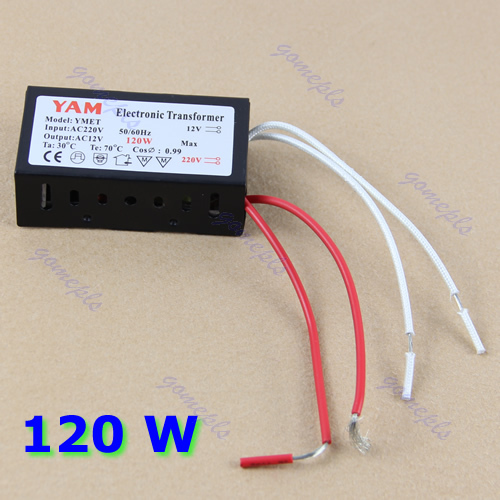 J34 Free Shipping 120W 220V Halogen Light LED Driver Power Supply Converter Electronic Transformer(China (Mainland))