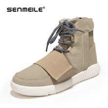 men Boots Canvas Casual Shoes 2015 New Autumn Winter Fashion Brand Eur Size 39-44 Solid Lace-Up Casual Ankle Boot Flats