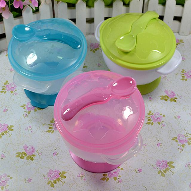 Детские дети присоски чаши ложка комплект посуды блюда тяжести чаши круто-устойчивых ...