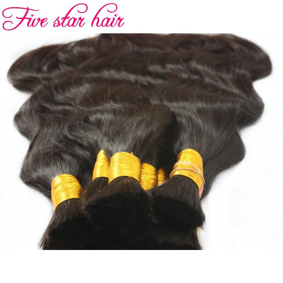 Wholesale human braiding Hair Bulk 100g/pc virgin Brazilian Body wave Human hair Bulk no weft 3 pcs/lot in stock for sale<br><br>Aliexpress