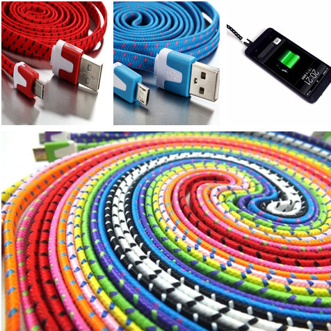 1M 3FT 3M 10FT Braided Wire Micro USB Cable Sync Nylon Woven 5pin Micro Charger Cords for Samsung Galaxy S3 S4 I9500 S5 note 3