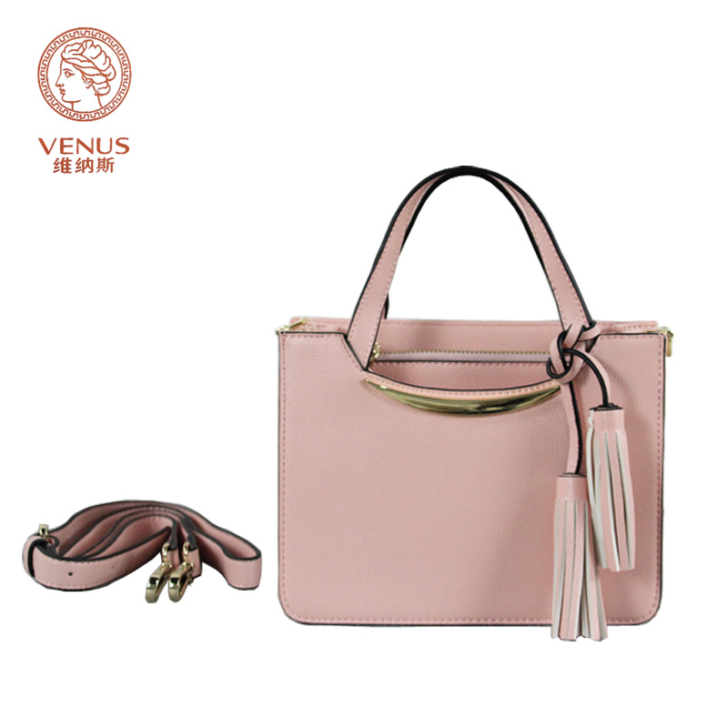 Venus Fashion Women Handbags Pink/Yellow Casual Tote Bag with Tassel Mico-Synthetic Leather Single-Shoulder Bag Bolsas Femininas(China (Mainland))