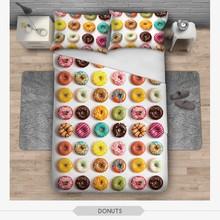 3D печать постельных принадлежностей 2 шт. наволочки и пододеяльник 3D съесть и еда печать 3 шт. комплект постельных принадлежностей для Housewear
