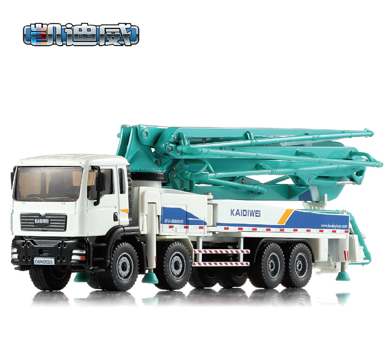 NEW Kaidi Wei 1:55 alloy car model cement truck concrete pump metal toy model children's toys factory(China (Mainland))