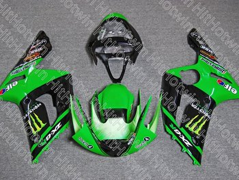 Custom Motorcycle Fairing kit for KAWASAKI  Ninja ZX-6R 03-04  ZX6R 636 2003 2004 ZX 6R 03 04 Green black Fairing parts