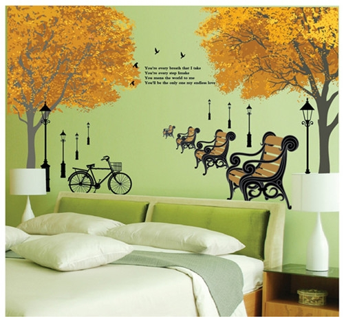Hot Park chair stickers for wall decoration stickers for kids chart kids wall stickers for kids room kids wall stickers Decor(China (Mainland))