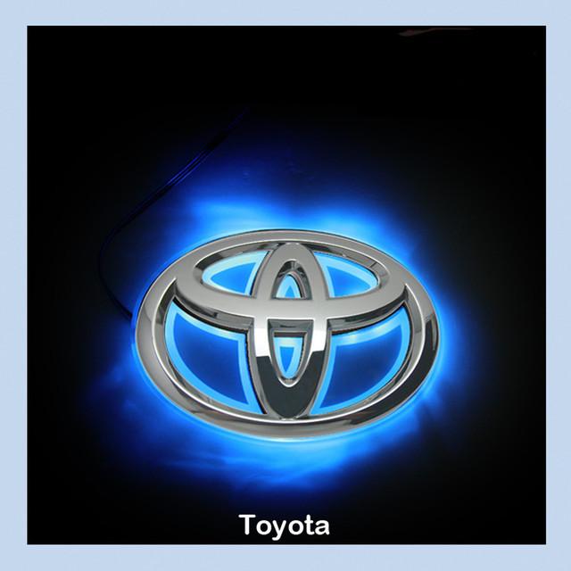 Toyota Camry LED Car Decal Logo Tail Light Badge Emblem Sticker Lamp Blue Light