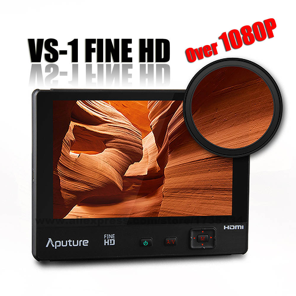 New Aputure VS-1 FineHD Video Monitor 7 1920*1200 HD LTPS Extra OSD Panel for Canon Nikon Sony DSLR Camera Camcorder GoPro GH4<br>