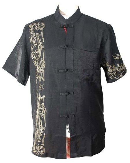 Классический Vintage Китайских Людей Кунг-Фу Рубашка Рубашка Лучших Вин Чун Тай Чи ...