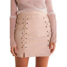 Buy Women's fashion Skirt 2017 Women Bandage Suede Fabric Mini Skirt Slim Seamless Stretch Tight Short Skirt free mar28 for $10.82 in AliExpress store