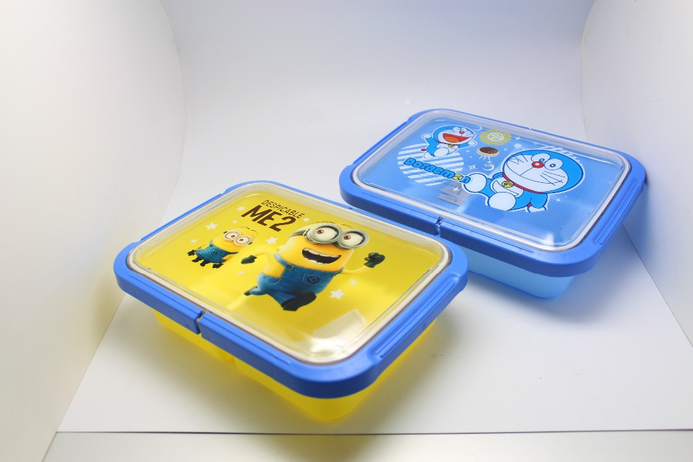 stylish cartoon food container eco friendly mulitlayer tableware microwave bento lunch box with. Black Bedroom Furniture Sets. Home Design Ideas