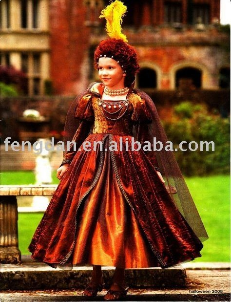 free shipping 2012 new queen Elizabeth costume party costume