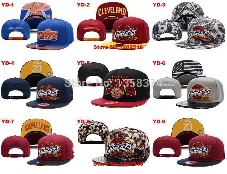 Z-1 Free shipping Best quality Cleveland Cavaliers bone black grey 18 style Adjustable Hat cap baseball Dangle Snapbacks(China (Mainland))