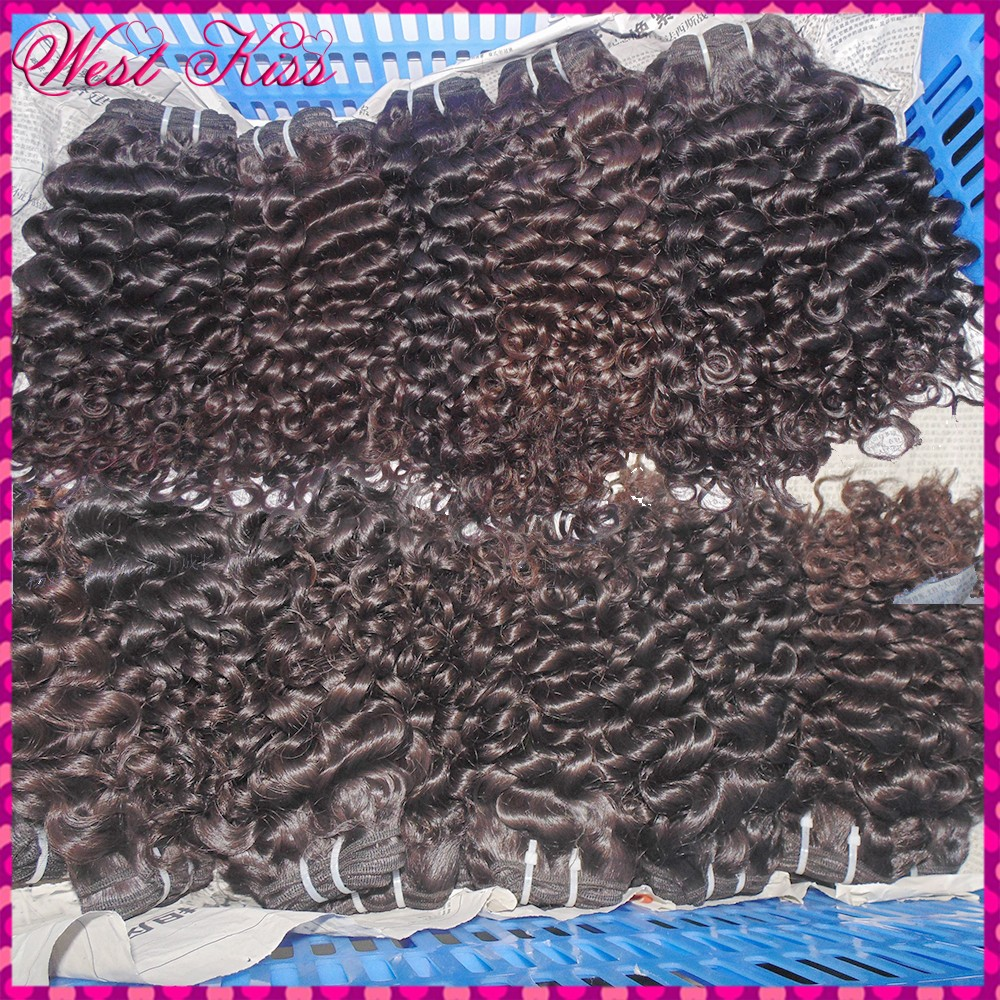 Grand Nubian Curl New Hot Selling Virgin Malaysian Human Hair Wefts 4 bundles Flawless WestKiss Raw Hair Extension Top 8A(China (Mainland))
