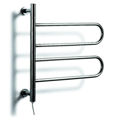 Low Freight ! New Stainless Steel Electric Rotatable Wall Mounted Towel Racks and Heated Towel Rail, 50W, Voltage 110-240V(China (Mainland))