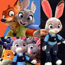 New Zootopia Nick Wilde Embroidery Judy Hopps Plush Toy Stuffed Animals Cartoon Dolls Animation Toys Children Gift 22CM/28CM(China (Mainland))