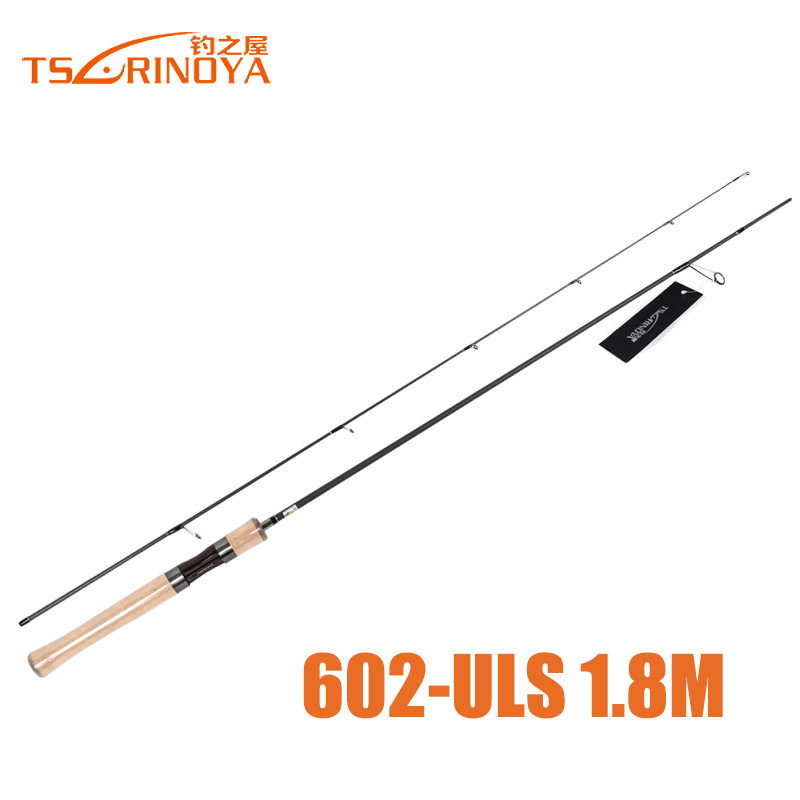 Trulinoya brand lure rods uls 1 8meters 2sections carbon for Fishing pole brands