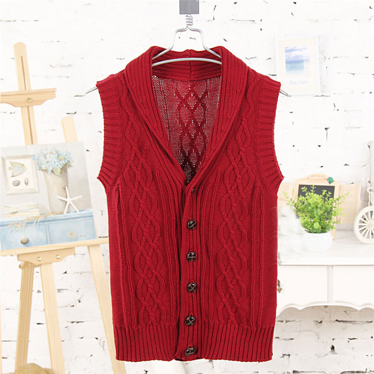 2015 autumn and winter boys clothing baby child sweater vest vest A1183(China (Mainland))
