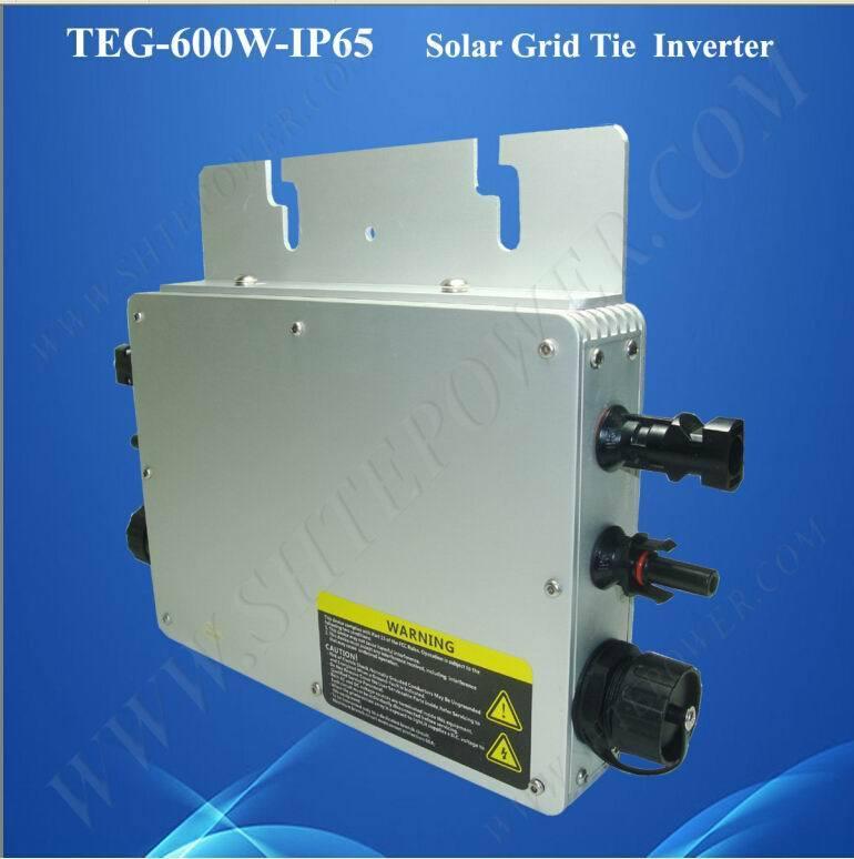 Easy installation dc 48v ac 220v IP65 waterproof on grid tie inverter 600w(China (Mainland))
