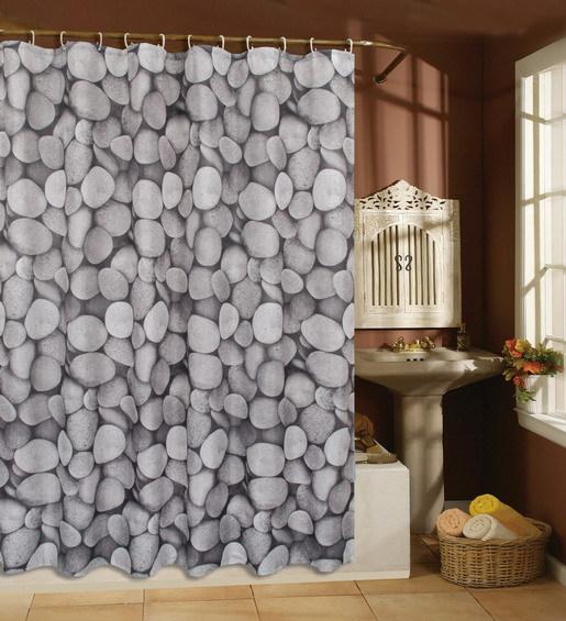 Polyester terylene gray stone shower curtains waterproof curtains bathroom curtains, 180x180cm(China (Mainland))