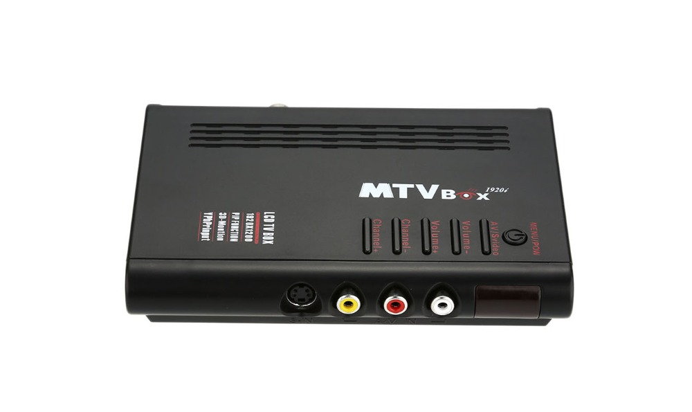 New TV Program Receiver Portable MTV HDTV HD LCD / Analog TV Tuner Box / CRT monitor Digital Computer TV Box(China (Mainland))