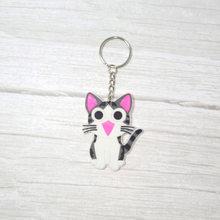 Olá Kitty Figura Dos Desenhos Animados Pingente de Chave Anel Chave Da Cadeia de PVC batman Anime Brinquedo do Miúdo Presente Trinket Chaveiro Titular Favores Do Partido jóias(China)