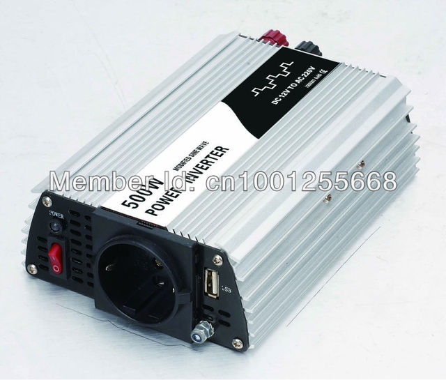 Modified sine wave solar inverter 500W 12V-220V connect to battery to bring the household appliance