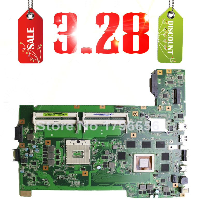 Hot selling 3.28 Original for asus G74SX motherboard with 2D connector 12 Memory GTX560M 3GB 60-N56MB2800 DDR3 4 Ram Slot(China (Mainland))