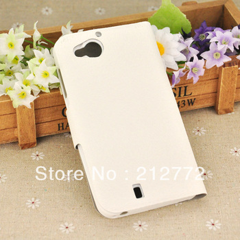 PU Leather Case For Fly IQ444 Diamond Side Open Style Phone Cases White Color Free Shipping