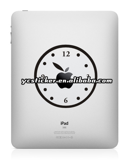 Free Shipping Black Vinyl Sticker Decal for iPad/iPad Mini Sticker Decal Skin Humor Art Sticker(China (Mainland))